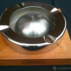 Ceniceros: GRAN CENICERO INOX Y MADERA.CARDHU SINCLE MALT. Lote 47214005