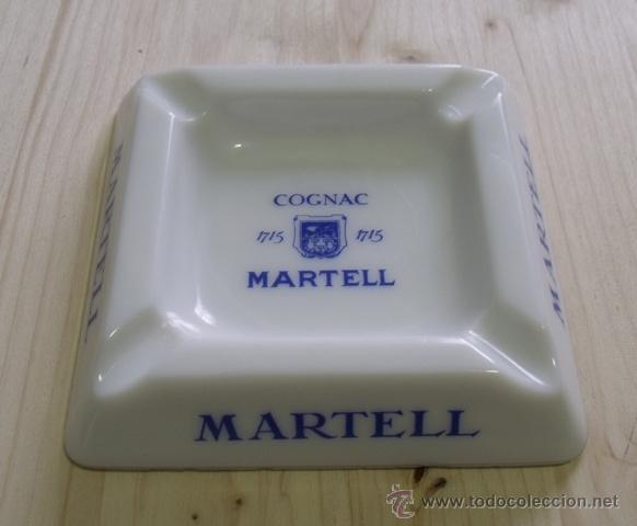 CENICERO PORCELANA COGNAC MARTELL - COÑAC (Coleccionismo - Objetos para Fumar - Ceniceros)