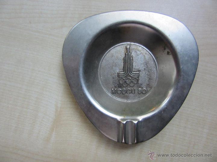 CENICERO EN METAL OLIMPIADAS MOSCU 80 (Coleccionismo - Objetos para Fumar - Ceniceros)