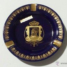 Ceniceros: CENICERO CON ESCUDO DE LA CIUDAD DE VIGO (ORO DE LEY). Lote 48415106