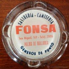 Ceniceros: CENICERO CRISTAL FONSA SASTRERIA - CAMISERIA FONSA. PALMA DE MALLORCA. Lote 48900564