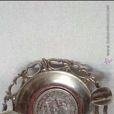 Ceniceros: CENICERO METÁLICO REDONDO RECUERDO DE ZARAGOZA . Lote 49606932
