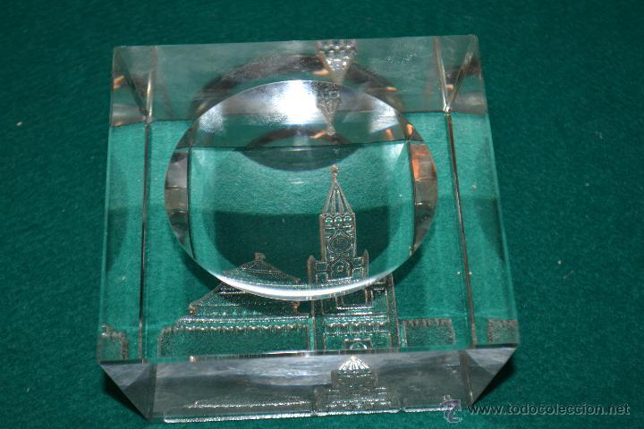 Ceniceros: cenicero de cristal con la IMAGEN DEL KREMLIN MOSCU AÑOS 80 - Foto 2 - 49652994