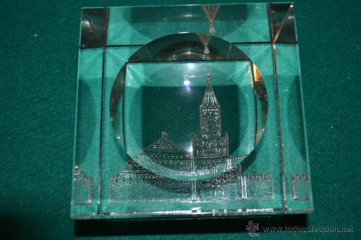 Ceniceros: cenicero de cristal con la IMAGEN DEL KREMLIN MOSCU AÑOS 80 - Foto 3 - 49652994