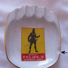 Ceniceros: CENICERO ANTIGUO BRANDY FELIPE II BODEGAS BLAZQUEZ JEREZ. Lote 50982252