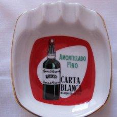 Ceniceros: CENICERO ANTIGUO BODEGAS BLAZQUEZ JEREZ AMONTILLADO CARTA BLANCA. Lote 51000128