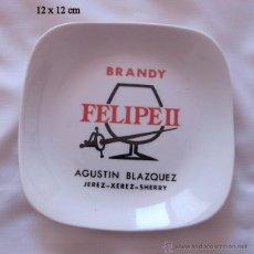 Ceniceros: BANDEJITA ANTIGUA BRANDY FELIPE II AGUSTIN BLAZQUEZ JEREZ. Lote 51000235