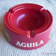 Ceniceros: **BONITO CENICERO DE PLASTICO DURO MACIZO PUBLICIDAD DE,----CERVEZA AGUILA AMSTEL----(13,5 X 5 CM)**. Lote 51301344