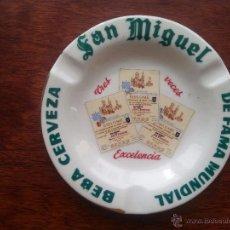 Ceniceros: CENICERO CERVEZA SAN MIGUEL PORCELANA. Lote 52734691