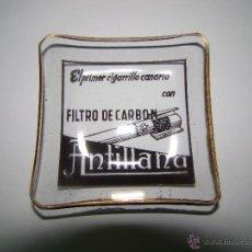 Ceniceros: ANTIGUO CENICERO CIGARRILLOS CANARIOS ANTILLANA. Lote 53722506