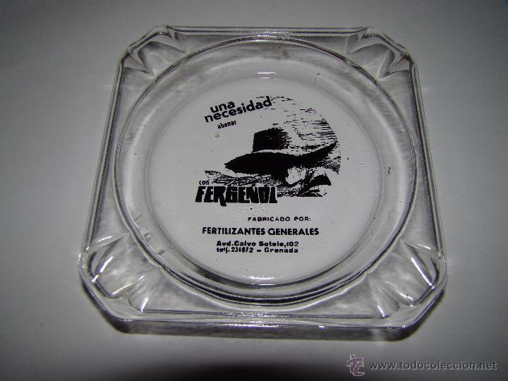 ANTIGUO CENICERO FERTILIZANTES FERGENOL - GRANADA (Coleccionismo - Objetos para Fumar - Ceniceros)