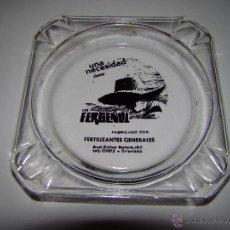 Ceniceros: ANTIGUO CENICERO FERTILIZANTES FERGENOL - GRANADA. Lote 53727515