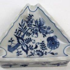 Ceniceros: CENICERO EN PORECELANA BLUE DANUBE JAPAN. Lote 55773766