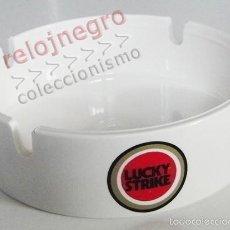 Ceniceros: CENICERO - LUCKY STRIKE - BLANCO - PUBLICIDAD DE TABACO - LOGOTIPO LOGO - DE PLÁSTICO. Lote 55836993