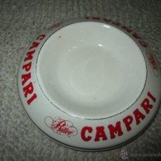 Ceniceros: CENICERO CON PUBLICIDAD DE BITTER CAMPARI. ORCHIES MOULIN DES LOUPS FRANCE. Lote 56467503