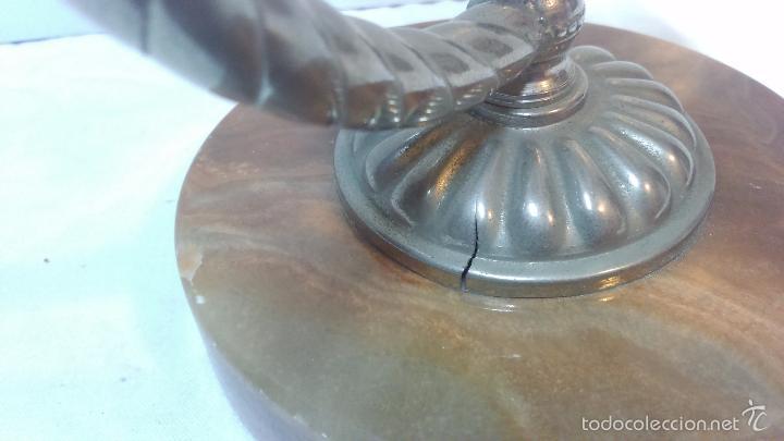 Ceniceros: LOTE 2 CENICERO VINTAGE METALICO CON BASE DE MARMOL. VER DESCRIPCION - Foto 7 - 56913933