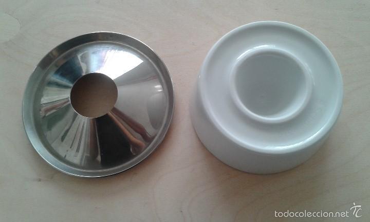 Ceniceros: Cenicero vintage -- SCHÖNWALD de porcelana y acero inox. -- Perfecto estado -- - Foto 6 - 57123283
