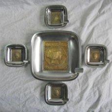 Ceniceros: 5 CENICEROS SELLO CORREOS 1853. Lote 57494056