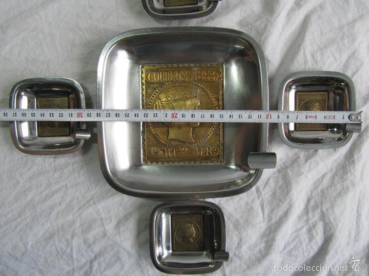 Ceniceros: 5 ceniceros Sello Correos 1853 - Foto 2 - 57494056