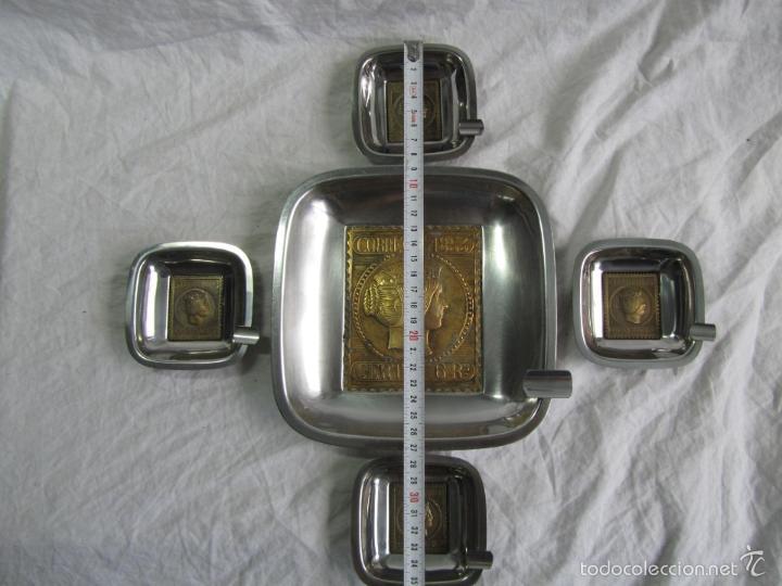 Ceniceros: 5 ceniceros Sello Correos 1853 - Foto 3 - 57494056