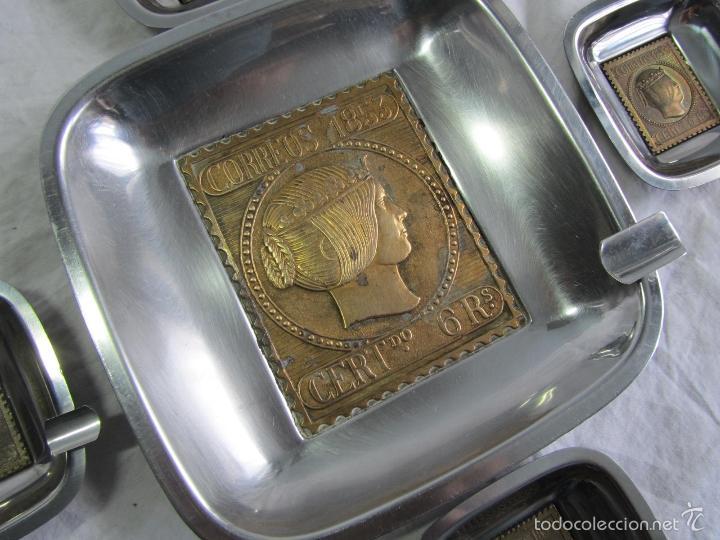 Ceniceros: 5 ceniceros Sello Correos 1853 - Foto 4 - 57494056