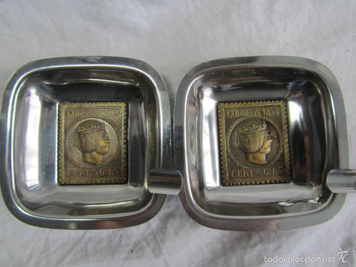 Ceniceros: 5 ceniceros Sello Correos 1853 - Foto 6 - 57494056