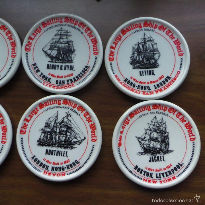 Ceniceros: LOTE DE 6 PLATOS CENICEROS GRUESOS TEMA NAVAL - BARCOS - Foto 4 - 57593564