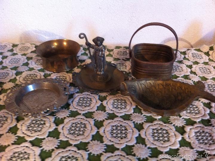 Lote de 5 objetos de cobre bronce comprar ceniceros - Objetos de cobre ...