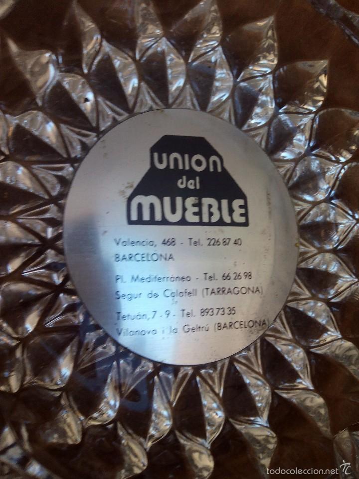 Ceniceros: Cenicero de cristal tallado de propaganda años 80 - Foto 2 - 57893946