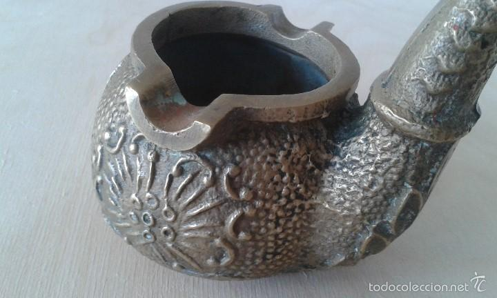 Ceniceros: Precioso Cenicero de bronce -- forma de pipa de fumar -- 450 grms -- 5 diámetro x 9 altura -- - Foto 7 - 57979163