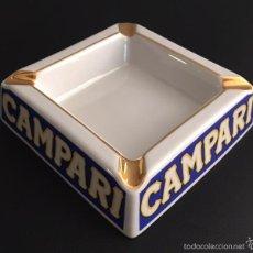 Ceniceros: ANTIGUO CENICERO DE PORCELANA CAMPARI. Lote 58212164