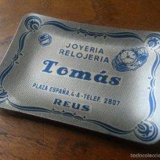 Ceniceros: CENICERO ALUMINIO JOYERIA RELOJERIA TOMAS REUS PLAZA ESPAÑA 9 X 6'5 CM. Lote 58321746