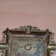 Ceniceros: MAGNIFICO CENICERO DE LATON BARCELONA CAMPEON 73 74. Lote 62079872