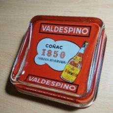 Ceniceros: CENICERO DE VIDRIO CON PUBLICIDAD DE COÑAC 1850 -. Lote 63000596