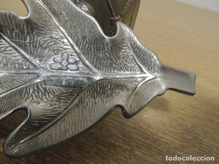 Ceniceros: encendedor y cenicero (tamboril y hoja de roble arbol de Guernica) - Foto 4 - 69921073