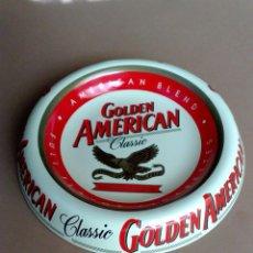 Ceniceros: CENICERO METALICO PUBLICITARIO-GOLDEN AMERICAN (DIAMETRO 15CMS.) DESCRIPCIÓN. Lote 69987113