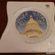Ceniceros: RELAIS & CHATEAUX, XXXIII CONGRES INTERNATIONAL,WASHINGTON DC.USA 2007, CENICERO 26X26 PORCELANA. Lote 70560349