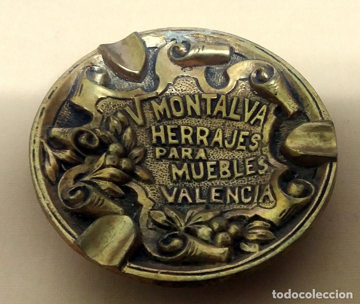 CENICERO FUNDICION LATÓN 95 M/M. DIAMETRO. V. MONTALVA HERRAJES PARA MUEBLES VALENCIA (Coleccionismo - Objetos para Fumar - Ceniceros)