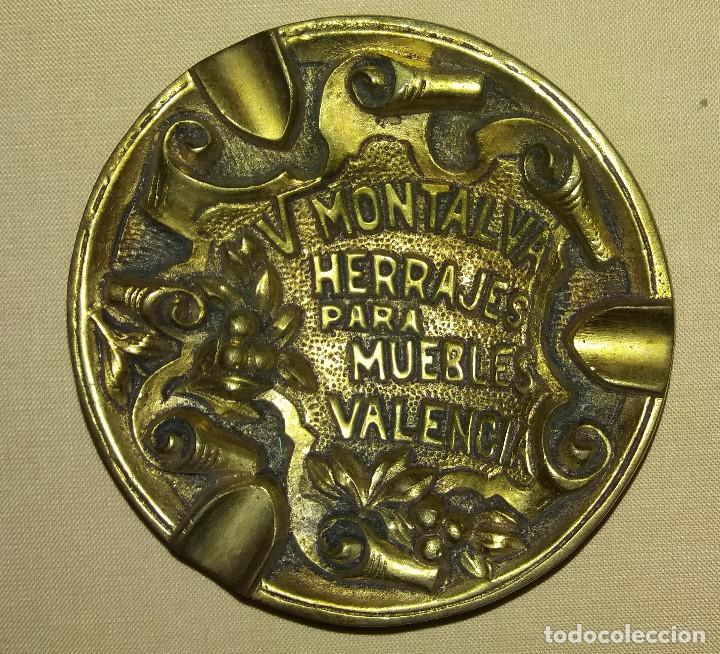 Ceniceros: cenicero fundicion latón 95 m/m. diametro. V. MONTALVA HERRAJES PARA MUEBLES VALENCIA - Foto 3 - 70581365
