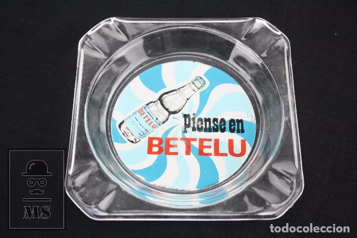 Ceniceros: Cenicero Publicitario de Vidrio - Piense en Betelu. Agua Mineral Natural - Años 60-70 - Foto 2 - 71921187
