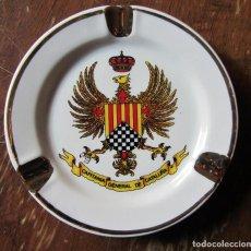 Ceniceros: CENICERO DE PORCELANA CAPITANÍA GENERAL DE CATALUÑA. AÑOS 80. Lote 71956335