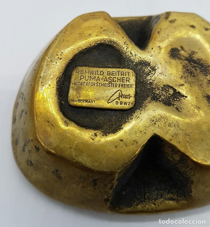 Ceniceros: Cenicero antiguo de diseño REHWILD BEITRITT, PUMA ASCHER, V.over forstmeister frevert, firmado . - Foto 5 - 72400615