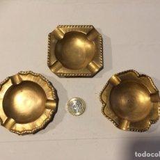 Ceniceros: 3 BONITOS CENICEROS DE LATON. Lote 79035125