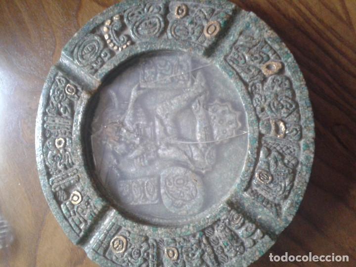 CENICERO PIEDRA MEJICANO (Coleccionismo - Objetos para Fumar - Ceniceros)