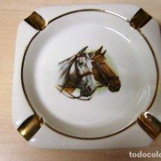 Ceniceros: CENICERO PORCELANA DE LIMOGES - TEMA CABALLOS CABALLO. Lote 222640965