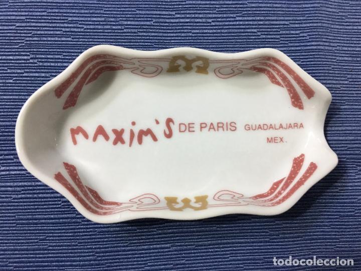CENICERO INDIVIDUAL RESTAURANTE **MAXIM'S DE PARIS** GUADALAJARA MEXICO (Coleccionismo - Objetos para Fumar - Ceniceros)