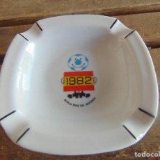 Ceniceros: CENICERO EN CERAMICA SEVILLA SEDE DEL MUNDIAL ESPAÑA 1982 82 PORCELANAS GUILLEN MADE IN SPAIN. Lote 84021092