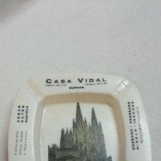 Ceniceros: CENICERO CASA VIDAL,BURGOS,DISTRIBUIDOR PHILIPS. Lote 86514396