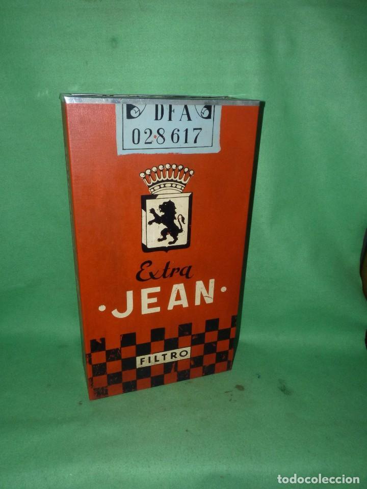 Ceniceros: Raro cenicero metal de estanco enorme cajetilla cigarrillos JEAN papelera publicidad paquete tabaco - Foto 2 - 87087616