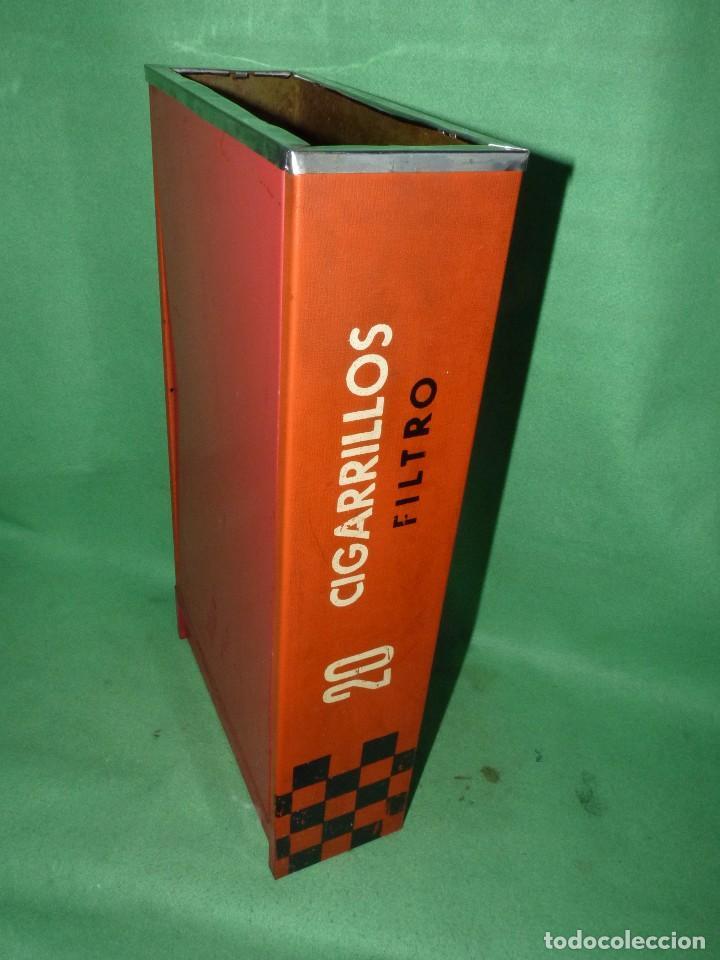 Ceniceros: Raro cenicero metal de estanco enorme cajetilla cigarrillos JEAN papelera publicidad paquete tabaco - Foto 4 - 87087616